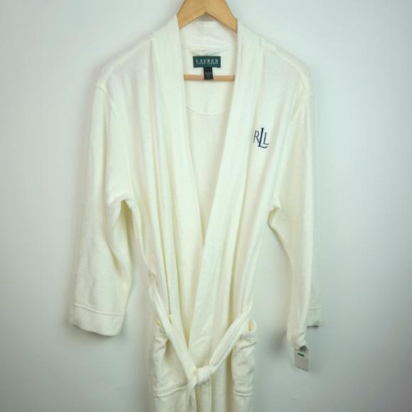 71a24bd26a Ralph Lauren Classics Terry Cloth White Robe Large